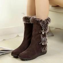 Moda Invierno Cálido Mujeres Acuden Botas de Nieve 2017, además de terciopelo Mujeres Botas Zapatos