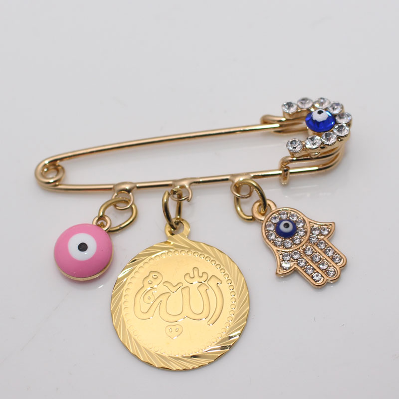 Image 4 - muslim Allah brooch Turkish evil eye baby pinBrooches