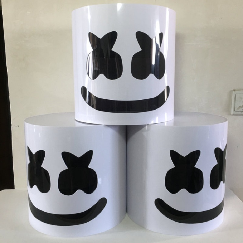 Casque de guimauve en PVC chaud DJ masque de guimauve accessoires de Concert futurs Fans de musique de guimauve basse Prop Bars Prop Prop sans LED