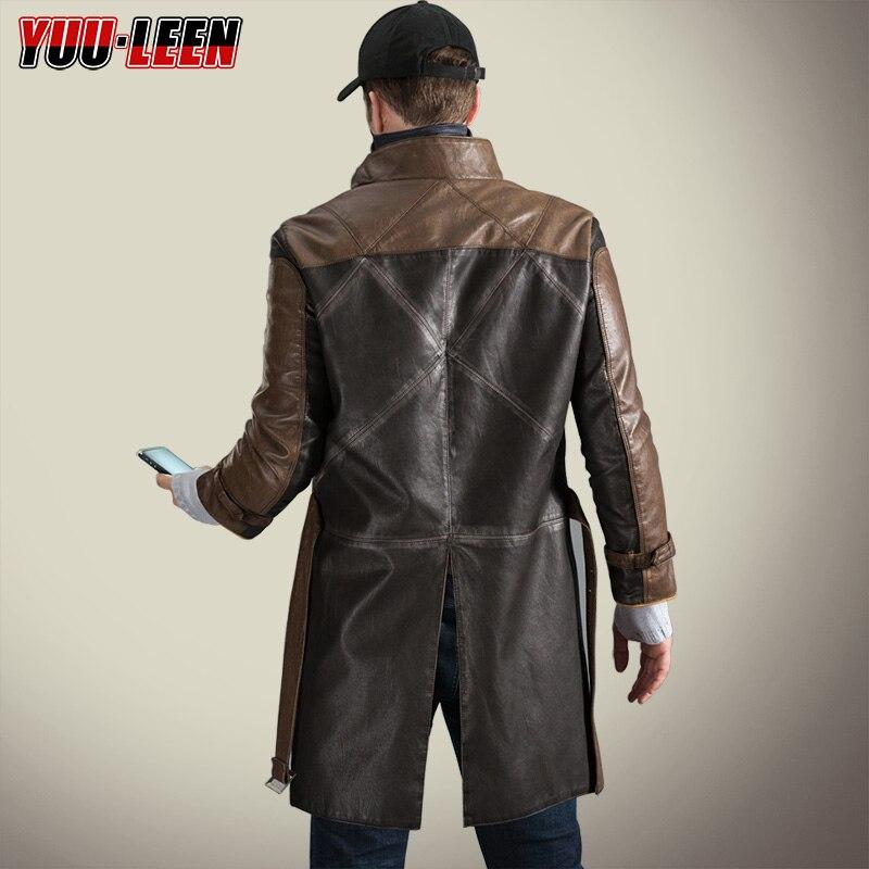[Запас] Горячая игра Watch Dog 2 Aiden Pearce Косплей длинный рукав и длина крутой костюм пальто для Хэллоуина карнавала