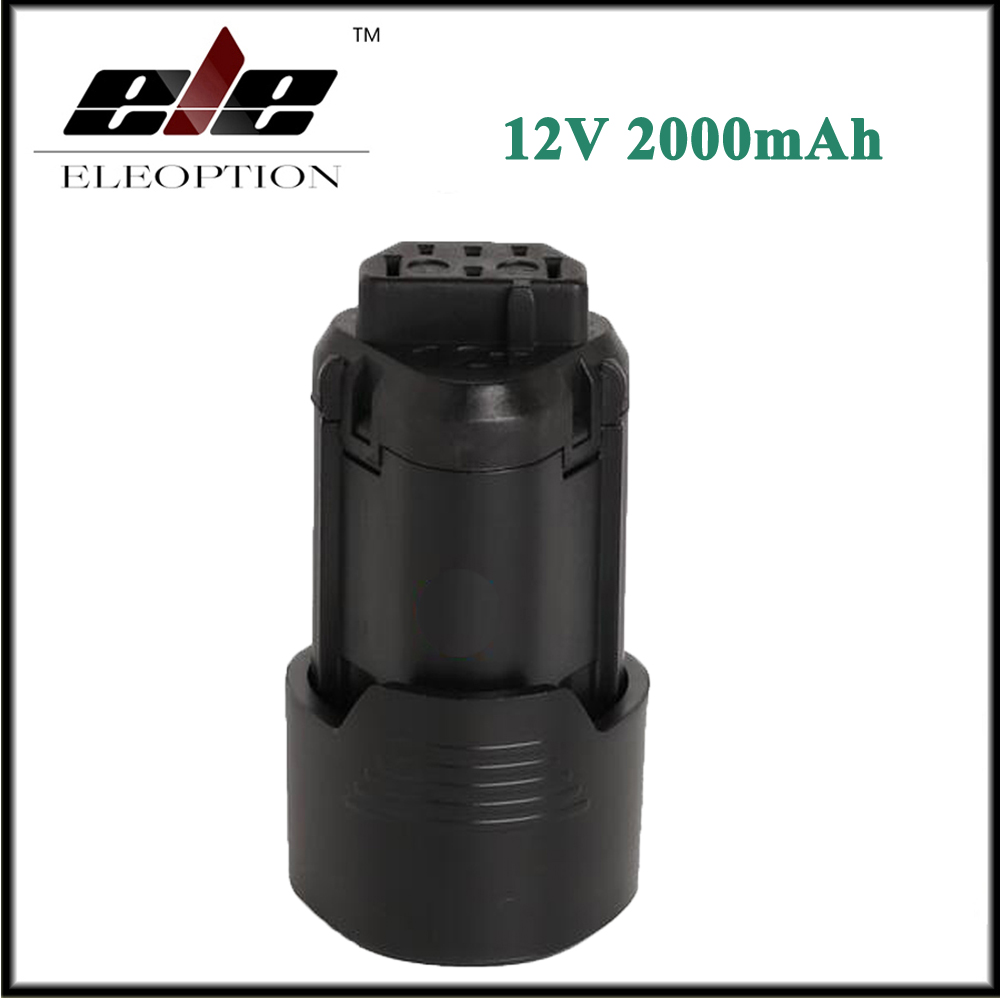 Eleoption 12V 2000mAh Li ion Rechargable Power Tool battery for AEG BS12C2 BSS12C BS12C L1215 L1215P