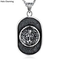 Top Quality Promotions Fashion Jewelry Lion Necklace 316L Stainless Steel Pendants Punk Gift 24 Inch