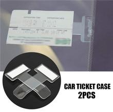 Clipe de bilhete de estacionamento do carro fibra carbono para astra j astra g audi a3 8p mercedes w211 audi a3 8l peugeot para toyota