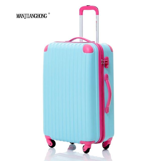20 inch nueva Moda Bolsa de Viaje Equipaje Maleta Trolley ABS del color del encanto, la Mujer o los hombres Viaje Equipaje rodante, 7 Colores para elegir