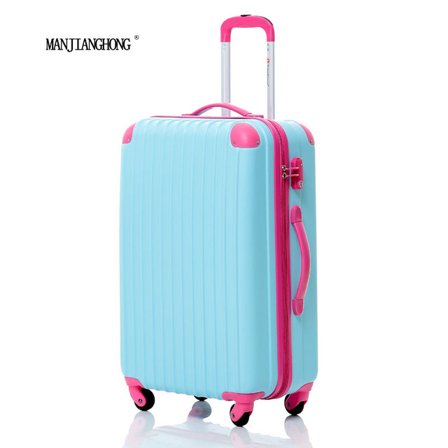 20inch new Fashion ABS spell color Trolley Suitcase Luggage Travel Bag,Woman or men Travel rolling Luggage,7 Colors to choose