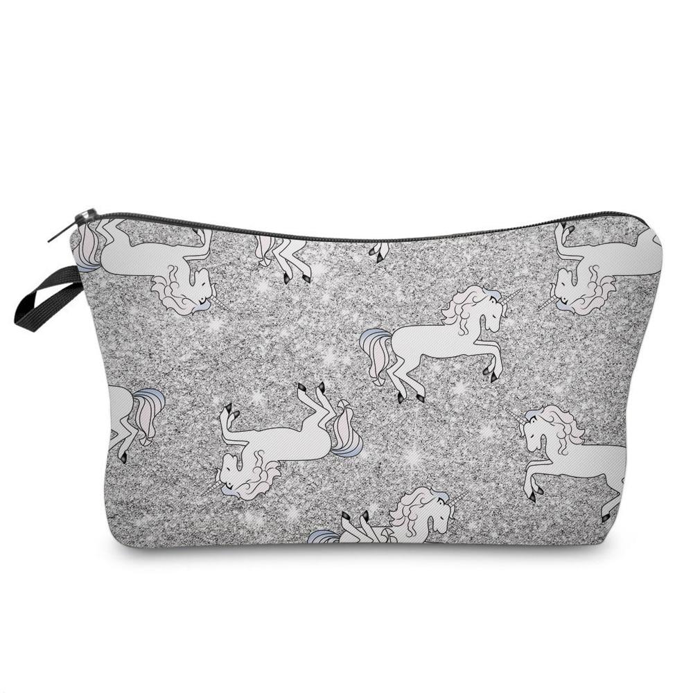 fae63515a477 BBL 3D Unicorn Printing Cosmetic Bags Women Cute Makeup Bag Travel ...