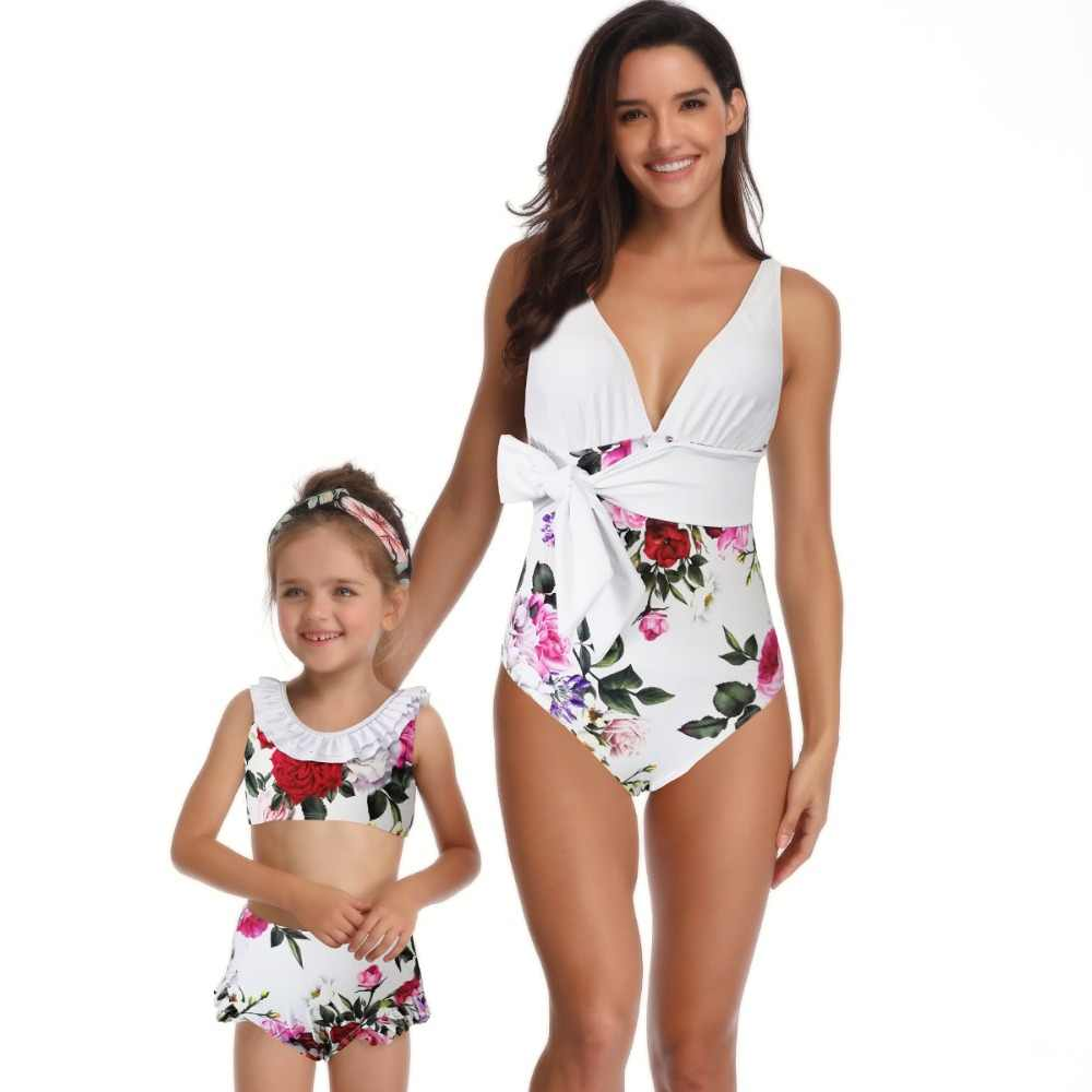 mother daughter swimwear family look mommy and me  bathing swimsuits matching outfits mom mum mama daughter dresses clothes
