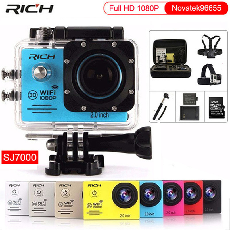 Caméra d'action Full HD 1080 P 30FPS gopro hero 4 Stlye Novatek96655 Wifi étanche 30 m Plongée en plein air caméra de sport