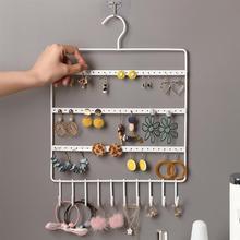Creative Earrings Jewelry Display Shelf Home Earrings Bracelet Necklace Storage Rack Hanging Jewelry Organizer Pink White Black недорого