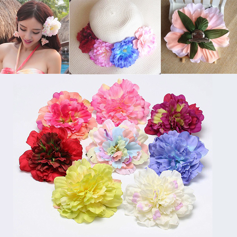 Boho New Double Color Beautiful Simulation Flower Hair Clip Hairpins For Women Wedding Bride Decorate Headwear Hair Accessories To Ensure A Like-New Appearance Indefinably