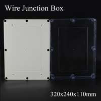 IP65 320x240x110mm Clear Cover ABS Transparent Plastic Electronic Project Waterpoof Wire Junction Box Sealed Enclosure Case