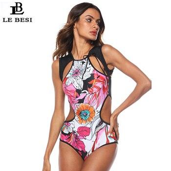 741b45306afa LEBESI 2019 nuevo traje de Surf de cuatro piezas para mujer traje de baño  deportivo profesional ...