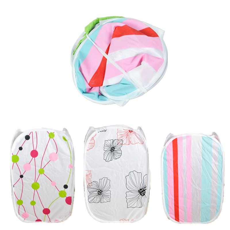Laundry Bucket Storage Bag Basket Folding Dirty Clothing Childrens Toys Shoes Sundries Storage Organizer