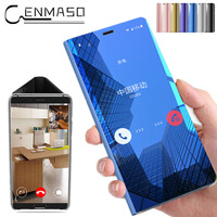 For SAMSUNG GALAXY S8 Plus Case Smart touch Mirror Clear View for Galaxy Note 8 Note8 S7 Edge S8 Plus case flip chip Cover
