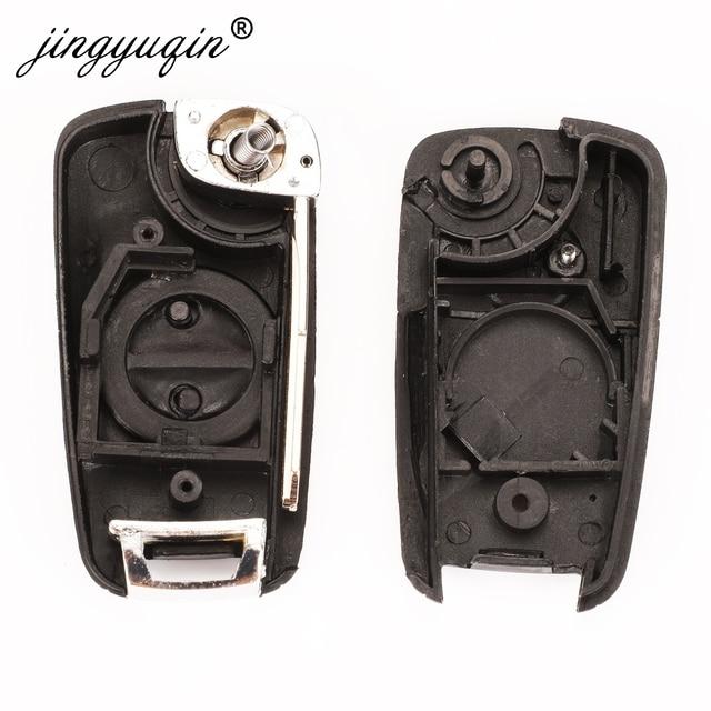 Jingyuqin étui à clés de voiture pliant 2 boutons mise à niveau pour Nissan Almera Primera x-trail avec coque à rabat A33/NSN14 NSN11