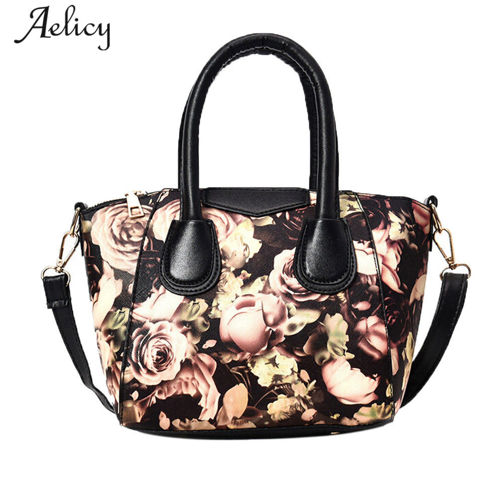 82d50ec011c2 Aelicy luxury New Europe Fashion Trend Totes Women Handbags Printing  Flowers Crossbody Bag Female Messenger Bag for Girls Bolsa