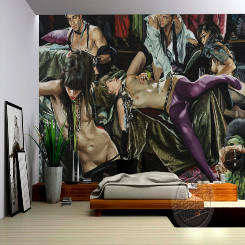 Photo wallpaper Modern human body painting star party party personality murals background wall mural wallpaper living room