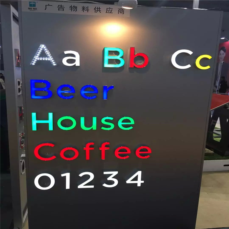 Factory Outlet Custom Outdoor Advertising  Acrylic Led Signage Channel Letters