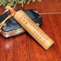1 unid Nuevo Hecho A Mano de madera Titular de la Clave de Coche llaveros Artesanía Gran Compasión Mantra Colgante tallado Chino Budista Amuleto Llavero