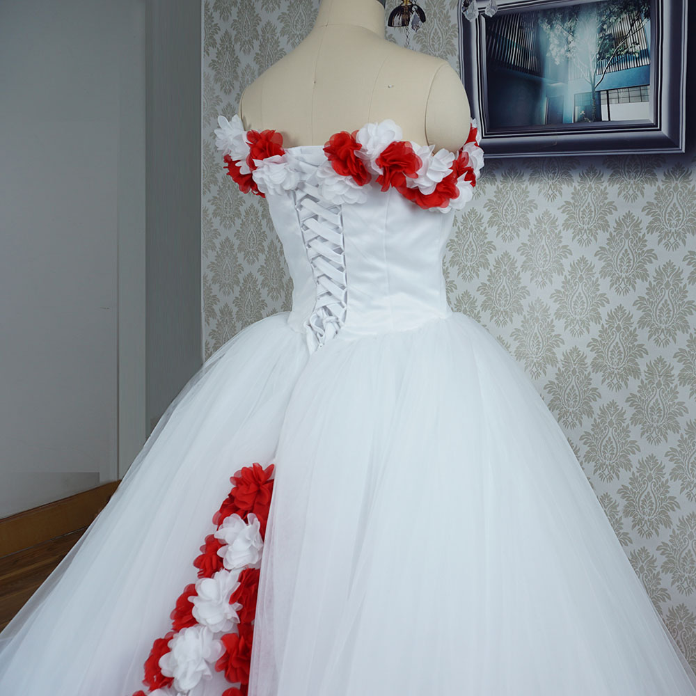 Nice Red And White Wedding Gown Images - Wedding Ideas - memiocall.com