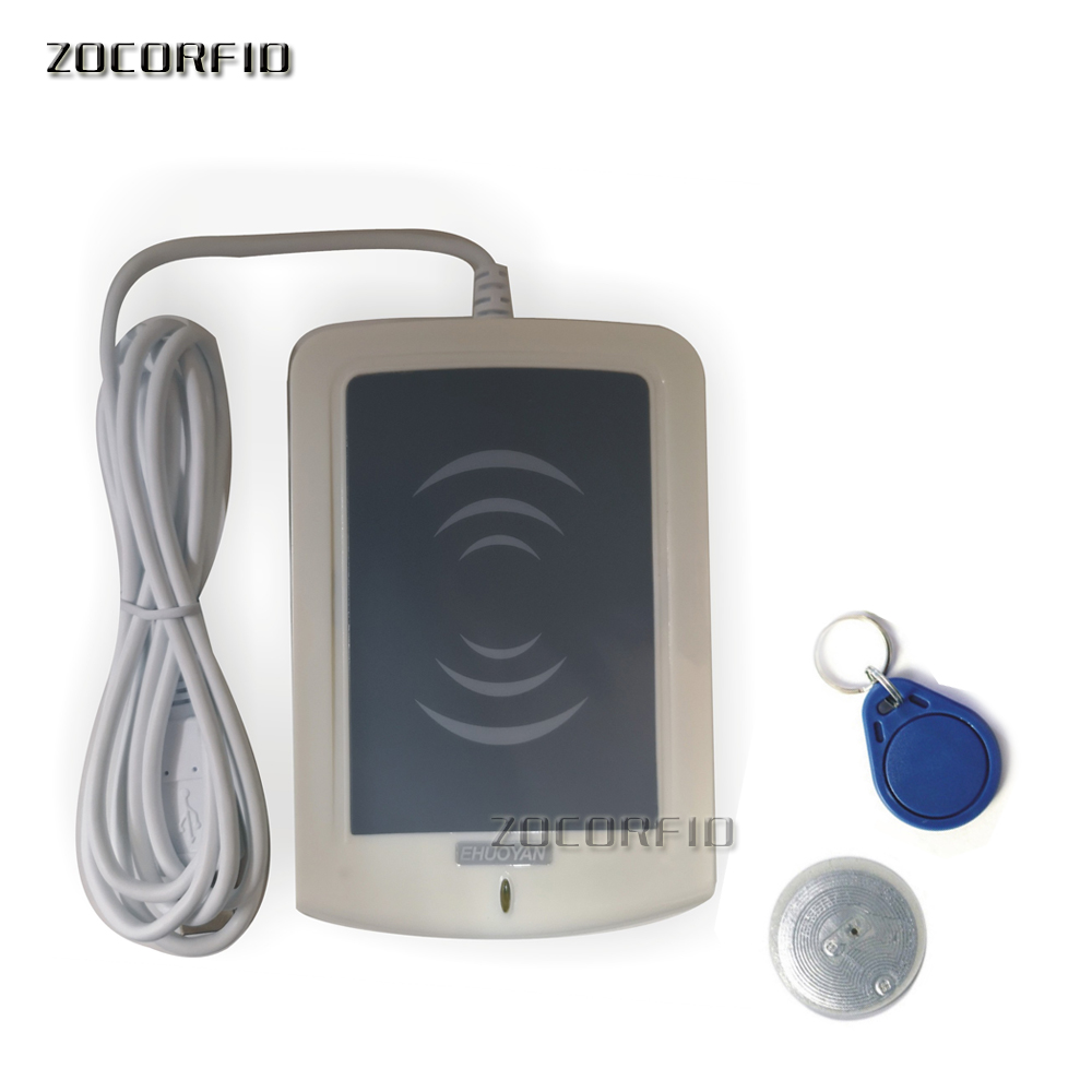 цена на ER302 RFID 13.56MHz USB NFC Read- Writer + SDK + IC card and NFC Tag + software Reader ISO14443A 1K support UID card
