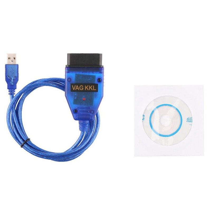 Di alta Qualità OBD2 II VAG COM USB KKL 409.1 Scan cavo con CD per Audi VW Seat Auto Riparazione di Diagnostica strumenti