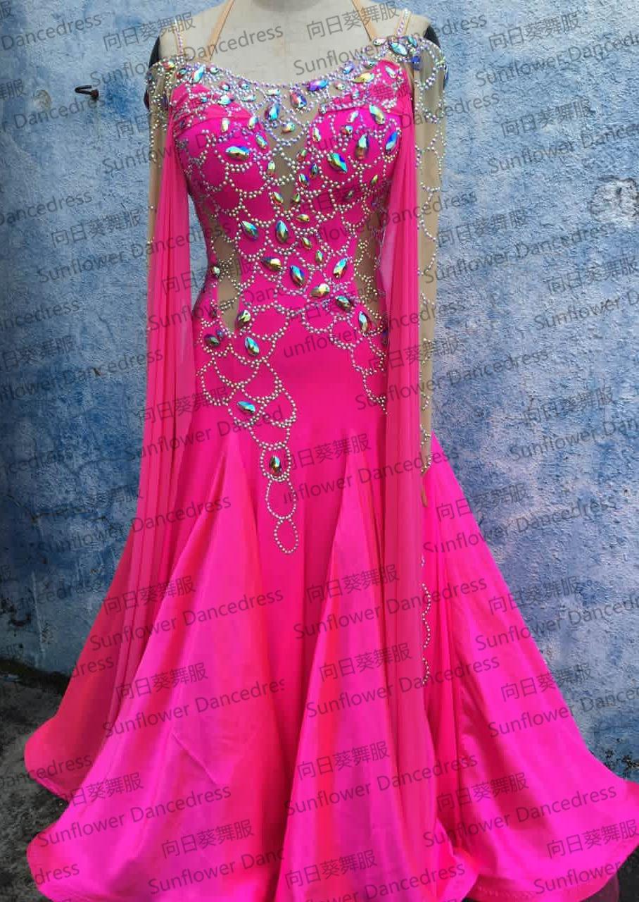 New Style!ballroom Standard Dance Dress,Waltz Competition Dress,Women Ballroom Dance Dress,Tango Dance Dress,Sunflower