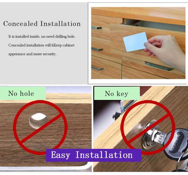 HTB1FyZ2NmzqK1RjSZFpq6ykSXXaH Smart Electronic Hidden RFID Cabinet Lock No Hole Easy Installation Furniture Locker Wardrobe Shoe Cabinet Drawer Door Lock With Two Cards/Keytags