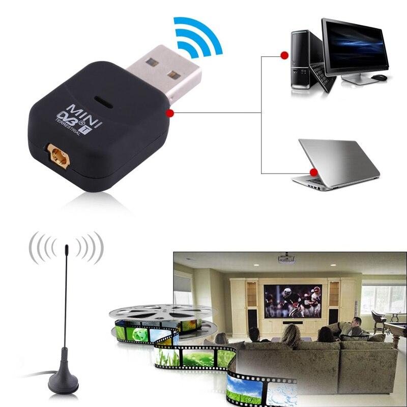 Цифровой мини-тюнер DVB-T USB 2,0 SDR + DAB + FM HDTV, приемник, ключ с антенной, пульт дистанционного управления, мобильный HDTV для ПК