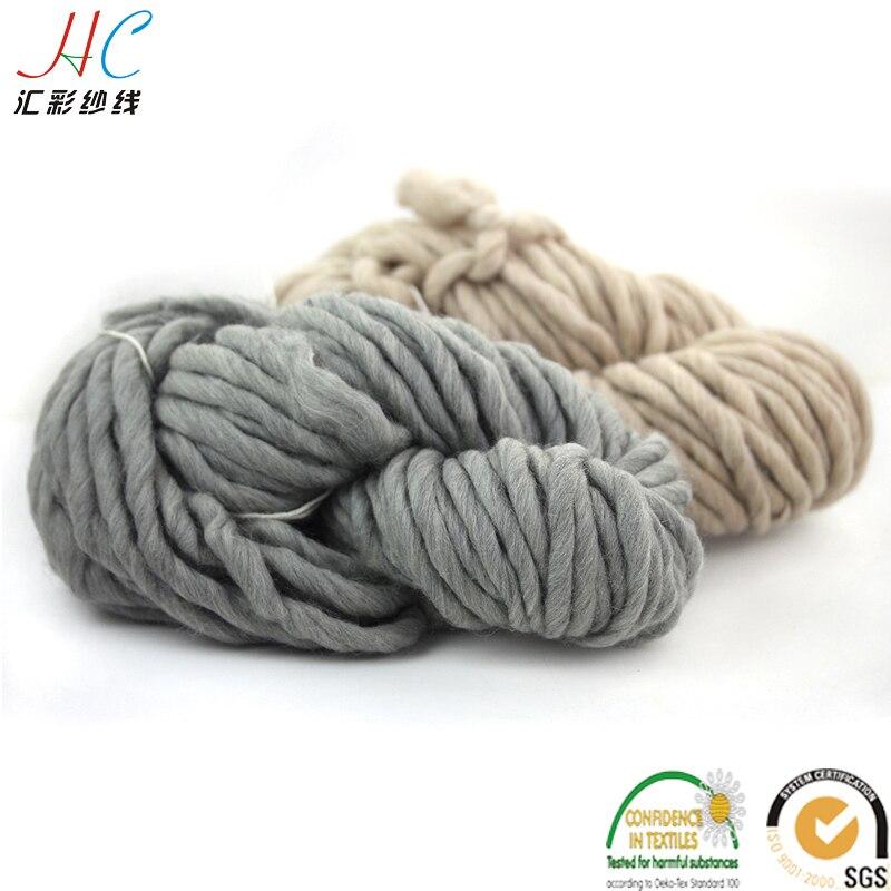 US $4 99  oeko tex quality, suzhou huicai retail selling 100% merino wolle  super chunky yarn 220g hanks 100% merino chunky wool-in Yarn from Home &