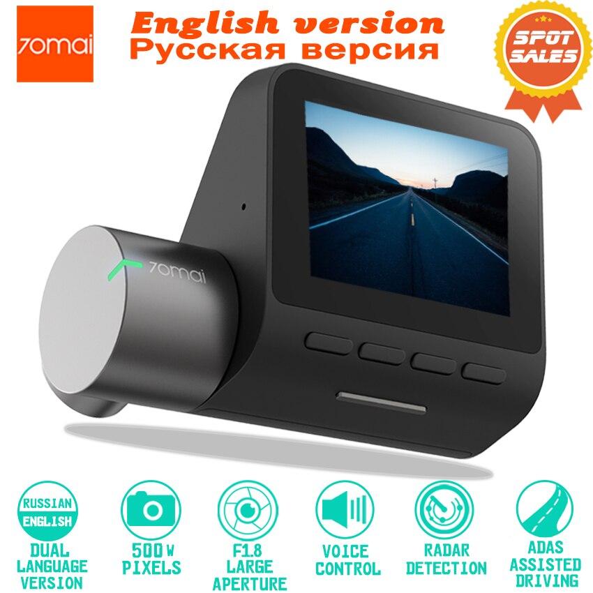 Xiaomi 70mai Dash Cam Pro 1944 P HD Cámara del DVR del coche de IMX335 140 grados de visión función avanzada ayuda al conductor sistema App control