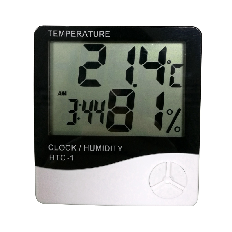 Indoor Digital Thermometer Hygrometer Temperature Humidity Meter Clock HTC-1 C&F display Weather Station digital indoor air quality carbon dioxide meter temperature rh humidity twa stel display 99 points made in taiwan co2 monitor