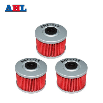 3Pcs Motorcycle Parts Red 112 Oil Filter For HONDA XR600R XR 600R 1985-2002 FMX650 FMX 650 XR440 R/SM 440 R 2005-2007 image