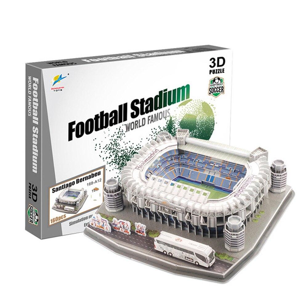 2018 nouveau produit terrain De Football Modèle Camp Nou Papier DIY Jouets footballeurs Pour Enfants cadeau dropshipping