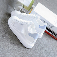 Women Casual Shoes Summer 2019 Spring Women Flats Shoes Fashion Breathable Vulcanization Lace Up Women Sneakers S2536