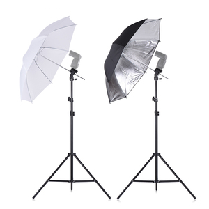 Image 4 - Andoer 카메라 더블 플래시 슈 마운트 회전 소프트 우산 키트 소프트 우산 + b 형 브래킷 + 휴대용 가방 + 라이트 스탠드 + shoemount