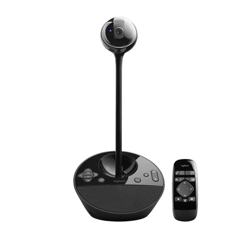 كاميرا مؤتمرات لوجيتك BCC950 عالية الدقة 1080P كاميرا فيديو لسطح المكتب للمكاتب الخاصة المكاتب المنزلية ومعظم أي مساحة شبه خاصة