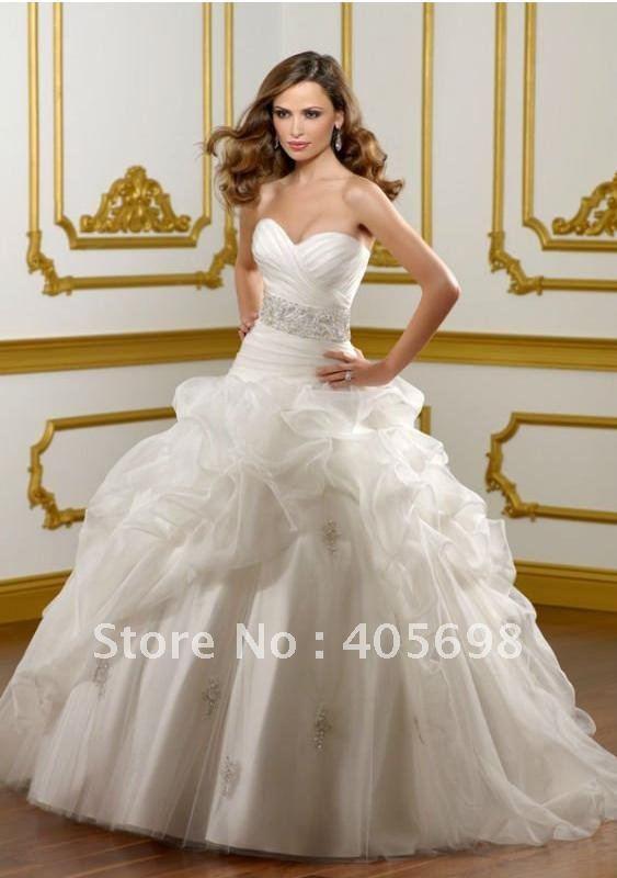 2012 white hot satin italian wedding dress free shipping many ...