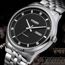 CASIMA Automatic Self-Wind Business Men Watches Leisuer Sapphire Men's Watch Male Calendar Waterproof Steel Strap Wristwatches