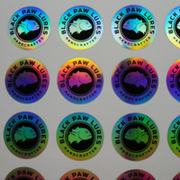 self adhesive Plain holographic PP Film with sticker print customizing Label logo 25mm