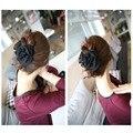 U119 красочные женщины красоты шифон розы с бантом челюсть клип заколка для волос коготь