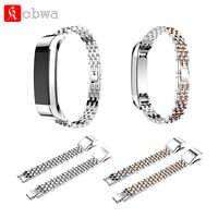 Correa de reloj de acero inoxidable para Fitbit Alta/Alta HR correa de repuesto pulsera de enlace accesorio correa de reloj de pulsera inteligente