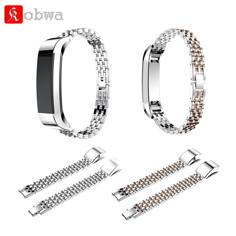 Stainless Steel Watch Band For Fitbit Alta/Alta HR WristStrap Replacement Band Bracelet Link Watchband smart Wristband accessory