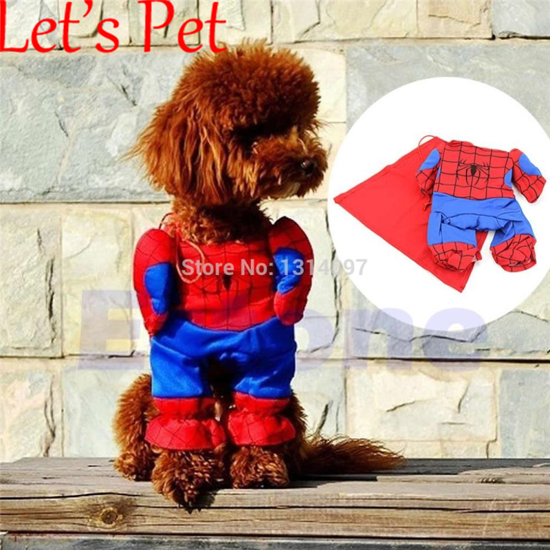 Let's <font><b>Pet</b></font> <font><b>Pet</b></font> Dogs Cats <font><b>Spiderman</b></font> Clothing with Cape <font><b>Costume</b></font> Party Clothes Cosplay outfit HXP001