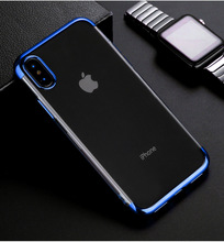 soft TPU case for iPhone X Xr Xs Max cases ultra thin transparent plating shining case for iPhone Xs 6 6s 7 8 plus 5 5s se cover цена и фото