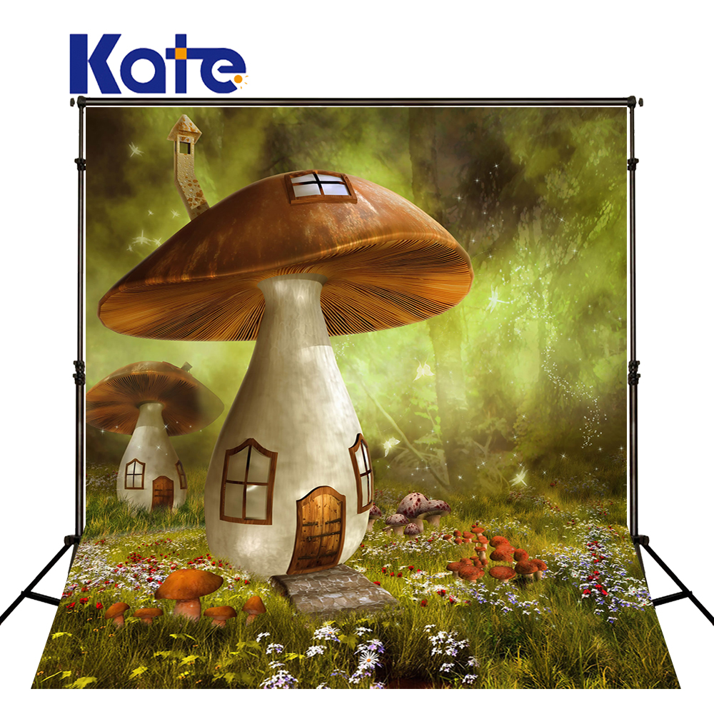 10x10ft Kate mushrooms forest Backdrop Baby Birthday Fairy Tale Forests Background Newborn Baby Photo for Photography Studio send rolled enchanted forest backdrop secret garden lantern fairy tale printed fabric photography background s0038