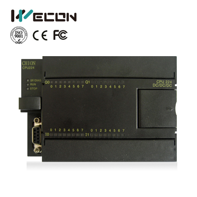 Wecon CNS7 24 I/O relay plc for hmi,cheap and reference of s7 200 plc wecon 24 points plc compatible with q series lx3vp 1212mt d