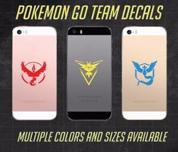 3D Effect Pokemon Go Vinyl Decal Team Instinct Mystic Valor Window Laptop Phone Tablet Car Wall Stickers Design Waterproof ZZ