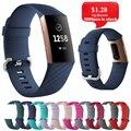 Ремешок для Fitbit Charge 3 сменный ремешок из кремнезема спортивный ремешок для Fitbit Смарт-часы аксессуары ремешок D18