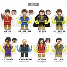 X0247 Matched LegoING European and American anime Super hero Human Sazan Black Adam Magical Mary Building Blocks Model Child Toy цена